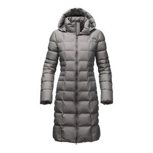The North Face Metropolis Parka II Grey Size Large Down Filled Puffer Jacket